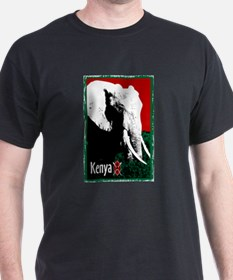 Kenyan Elephant Design T-Shirt