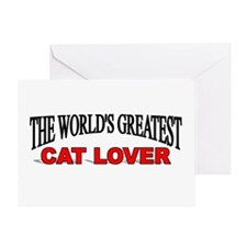 """""""The World's Greatest Cat Lover"""" Greeting Card"""