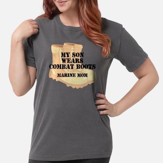 Marine Mom Son Desert Combat Boots T-Shirt