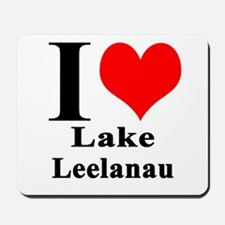 I heart Lake Leelanau Mousepad