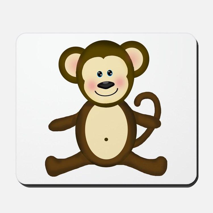 Smiling Baby Monkey Mousepad