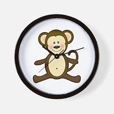 Smiling Baby Monkey Wall Clock