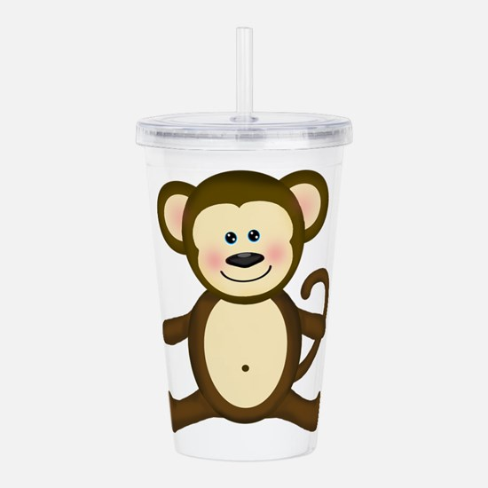 Smiling Baby Monkey Acrylic Double-wall Tumbler
