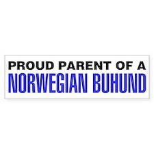 Proud Parent of a Norwegian Buhund Bumper Sticker