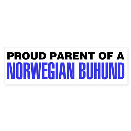 Proud Parent of a Norwegian Buhund Sticker
