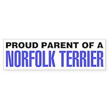 Proud Parent of a Norfolk Terrier Bumper Sticker
