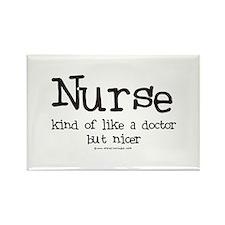 Nurse like Doctor Rectangle Magnet