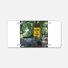 Zombies X-ing Aluminum License Plate