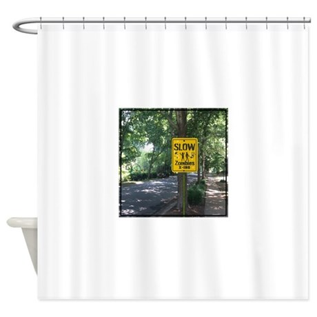 Zombies X Ing Shower Curtain By ZombiesCrossing1