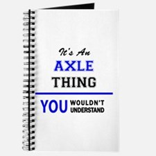 It's an AXLE thing, you wouldn't understan Journal