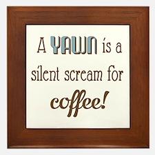 Silent Scream for Coffee Framed Tile