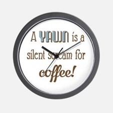 Silent Scream for Coffee Wall Clock