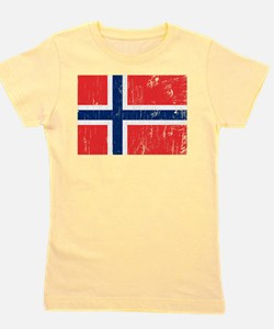 Cute Norway flag Girl's Tee