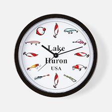 Lake Huron Clocks Wall Clock