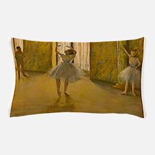 Famous Paintings: Degas' Ballet Lesson Pillow Case