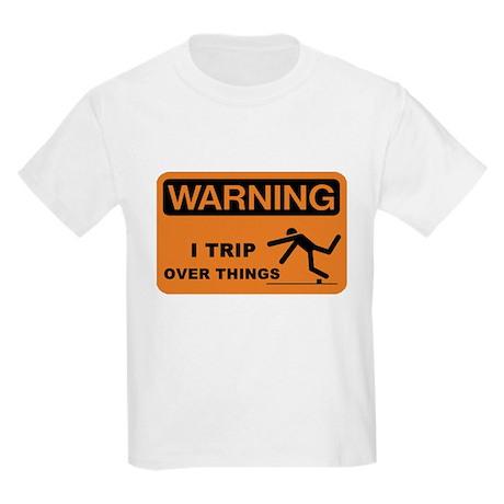 WARNING: I TRIP OVER THINGS Kids Light T-Shirt