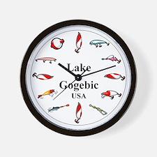 Lake Gogebic Clocks Wall Clock
