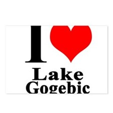 I heart Lake Gogebic Postcards (Package of 8)