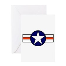 The USAF Red Stripe Shop Greeting Card