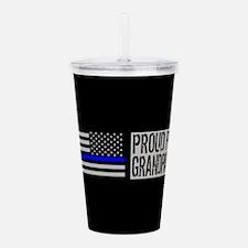 Police: Proud Grandpar Acrylic Double-wall Tumbler