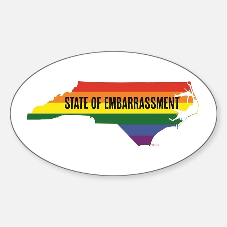 NC HB2 state of embarrassment Decal