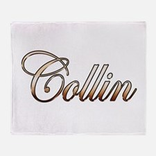 Gold Collin Throw Blanket