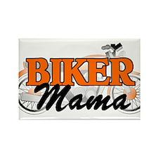 BIKER MAMA Rectangle Magnet