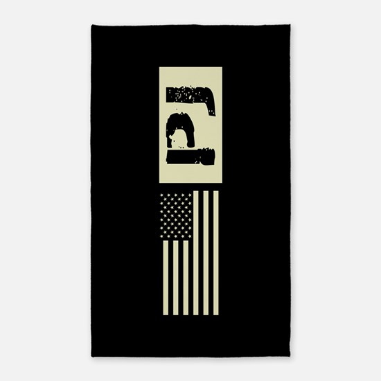 U.S. Air Force: Pararescue (Black Flag) Area Rug