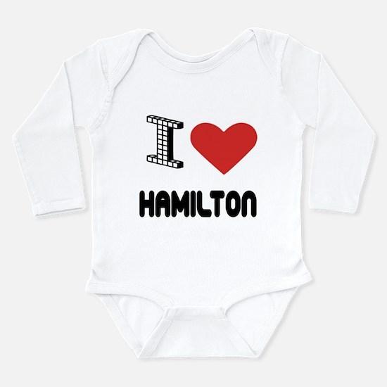 I Love Hamilton City Onesie Romper Suit