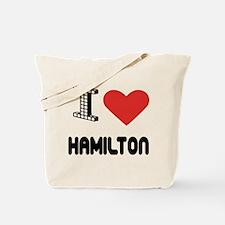 I Love Hamilton City Tote Bag
