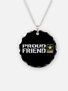U.S. Army: Proud Friend (Bla Necklace