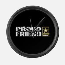U.S. Army: Proud Friend (Black) Large Wall Clock