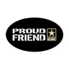 U.S. Army: Proud Friend (Black) Oval Car Magnet