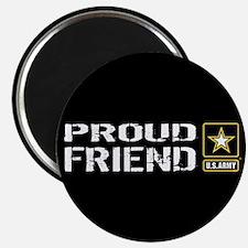 "U.S. Army: Proud Friend (Bl 2.25"" Magnet (10 pack)"