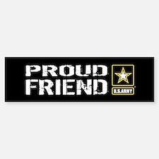 U.S. Army: Proud Friend (Black) Sticker (Bumper)