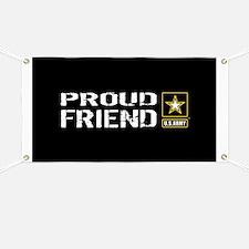 U.S. Army: Proud Friend (Black) Banner