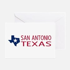 Texas: San Antonio (State Shape & St Greeting Card