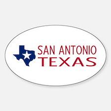 Texas: San Antonio (State Shape & S Sticker (Oval)