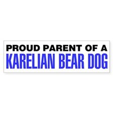 Proud Parent of a Karelian Bear Dog Bumper Sticker