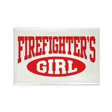 Firefighter's Girl Rectangle Magnet