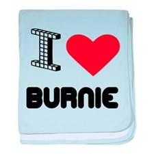I Love Burnie City baby blanket
