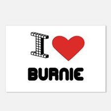 I Love Burnie City Postcards (Package of 8)