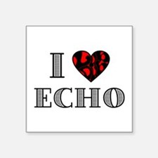 "I LubDub Echo Square Sticker 3"" x 3"""