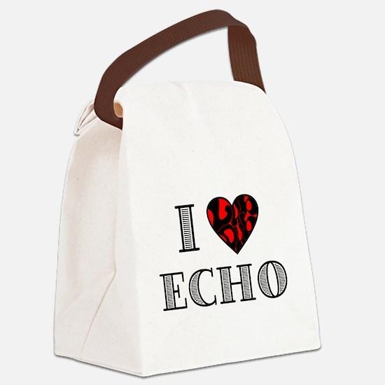 I Lubdub Echo Red Canvas Lunch Bag