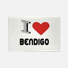 I Love Bendigo City Rectangle Magnet