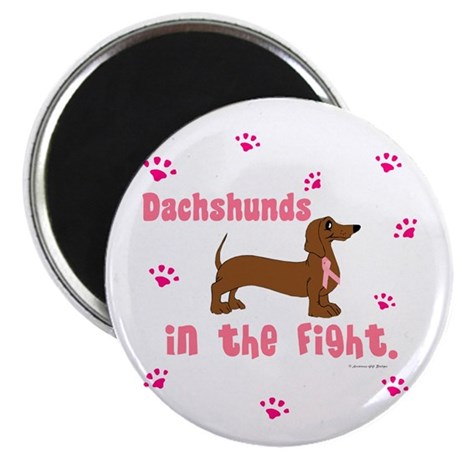 Dachshunds In The Fight (BC) Magnet