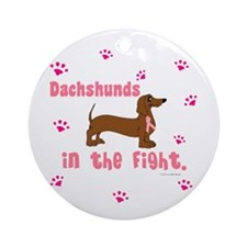 Dachshunds In The Fight (BC) Ornament (Round)