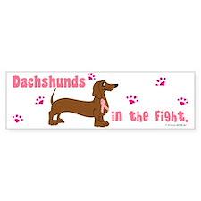 Dachshunds In The Fight (BC) Bumper Bumper Sticker