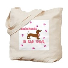 Dachshunds In The Fight (BC) Tote Bag