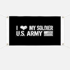U.S. Army: I Love My Soldier (Black) Banner